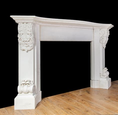 Carved Fireplace by Carved White Marble Fireplace 19217 Antique Marble