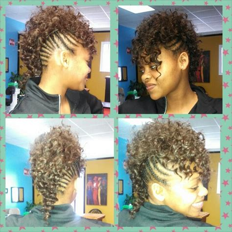 sew in top mohawk 12 best images about hair on pinterest updo black women