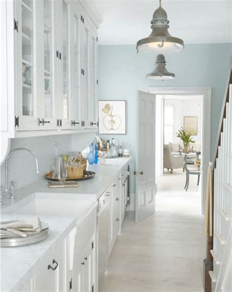Blue Kitchen Walls White Cabinets Sherwin Williams Concepts And Colorways