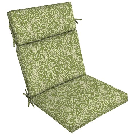 Shop Garden Treasures 1 Piece Standard Patio Chair Cushion Garden Treasures Patio Furniture Replacement Cushions