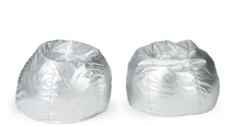 metallic silver bean bags items i didn t win at christie s greg org