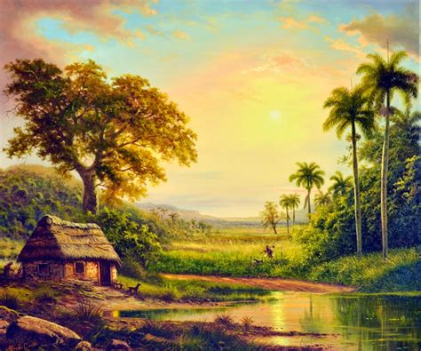 Landscape Paintings Cuban Contemporary Painters Gallery Cuban