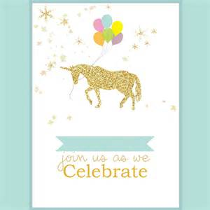 unicorn party invite living and loving