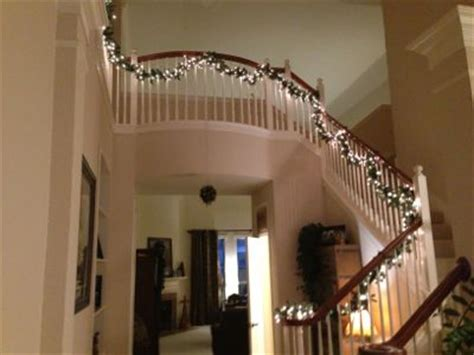 christmas lights for stair banisters project light up your stairway banister