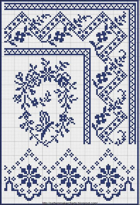 pattern maker for cross stitch cross stitch borders no color chart just use pattern