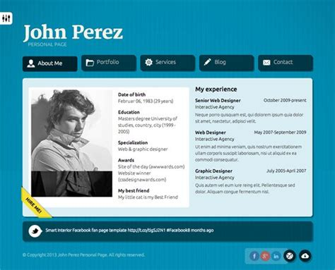 Resume X Theme by 8 Best 7 More Of The Best Vcard Resume Cv