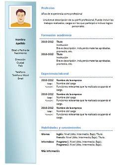 Modelo Curriculum Vitae Chile 2017 Modelo De Curriculo En Word Para Completar Gratis