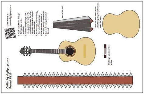 How To Make A Paper Guitar Model - 17 best images about guitar s paper models on