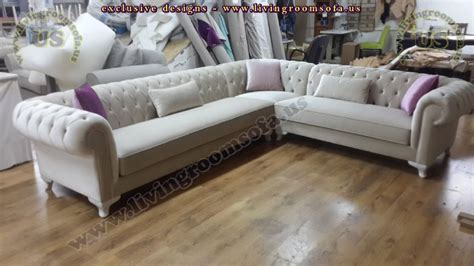 Chesterfield Leather Sofa Living Room Sofa And Corner
