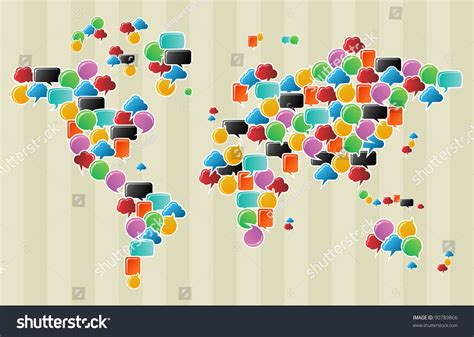 social speech bubbles different colors shapes stock vector social speech bubbles in different colors and forms in