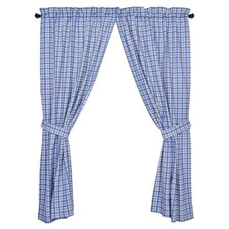 Blue Plaid Kitchen Curtains Blue Plaid Kitchen Curtains For The Home