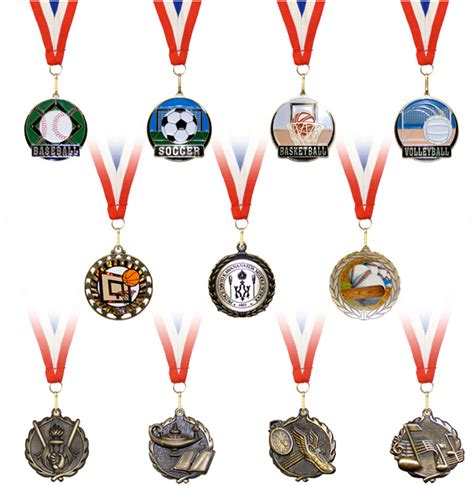 types of medals the clock and trophy shop