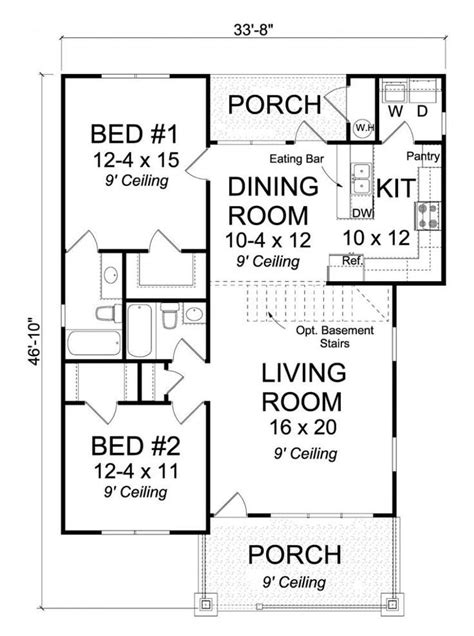 2 bedroom house plans with basement 2 bedroom house plans with basement elegant best 25 2