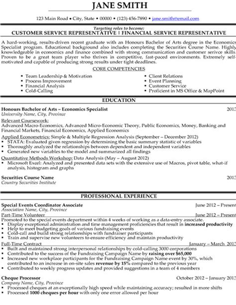 Resume Templates For Customer Service Representatives by Customer Service Representative Resume Sle Template