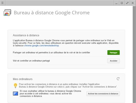 chrome bureau à distance comment contr 244 ler un ordinateur 224 distance avec chrome