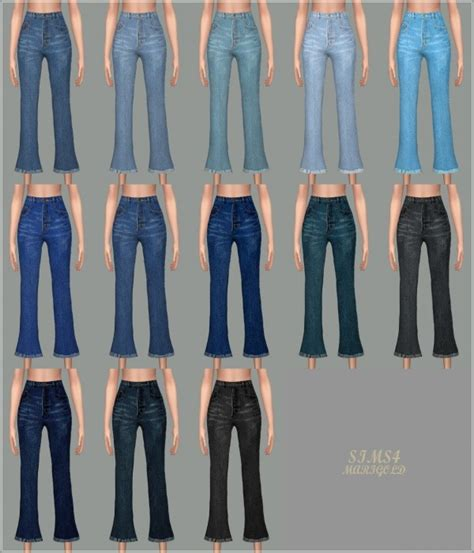 Decor Tiles And Floors sims4 marigold cropped flare jeans sims 4 downloads
