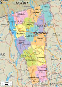 political map of vermont ezilon maps