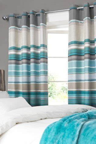 teal and cream striped curtains 17 best ideas about teal eyelet curtains on pinterest