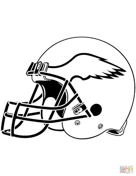 nfl eagles coloring pages philadelphia eagles helmet coloring page free printable