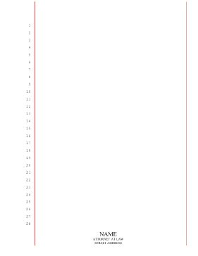 printable blank legal pleading paper 28 lines red lines
