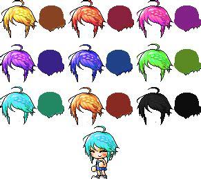 nautilus hair hair female maple maplestory characters hair maplestory mixed custom hair by