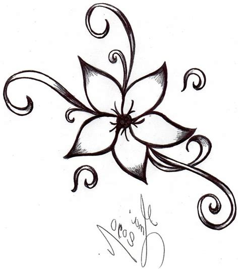 floral pattern sketch cool and easy flowers to draw cool simple flower designs