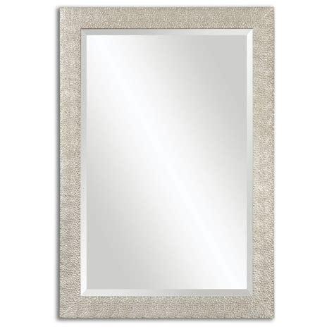 Silver Bathroom Mirror Rectangular Porcius Lightly Antiqued Silver Rectangular Mirror Uvu14495