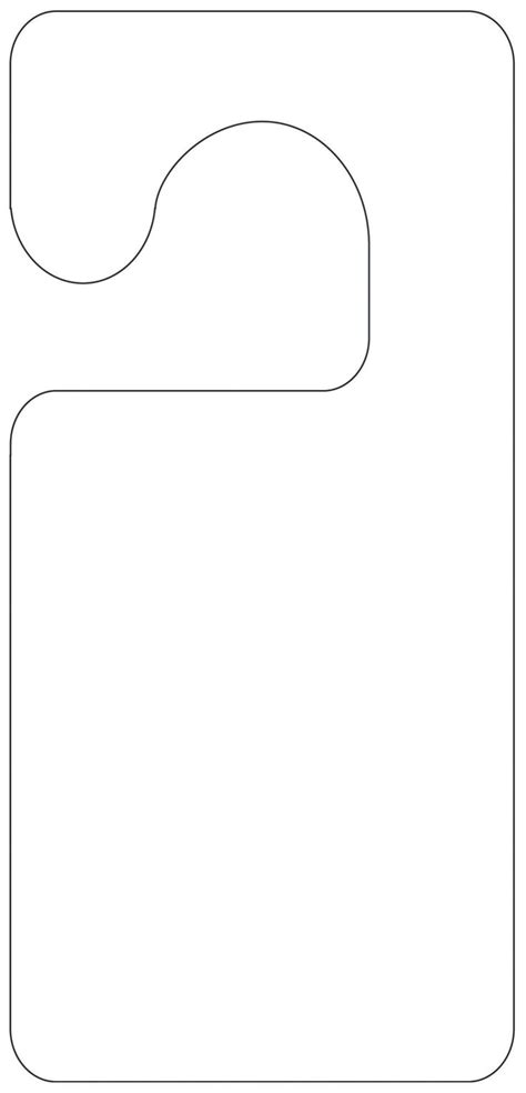door hangers template printable door hanger template scout