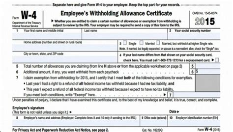 printable w4 for employees income tax form w9 and others