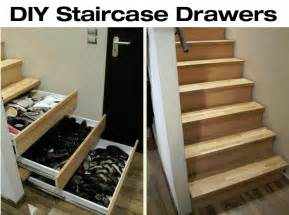 diy staircase drawers for more storage diy for
