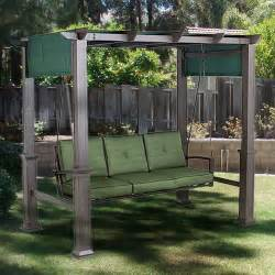 Outdoor Patio Pergola Swing by Outdoor Patio Pergola Swing Replacement Canopy Garden Winds