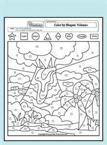 free 3d shape pdf coloring pages