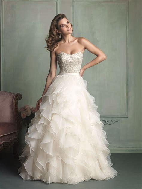 beautiful strapless wedding dresses  allure bridals