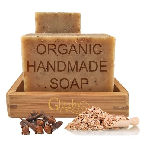 Best Handmade Soap - organic handmade soap with bamboo soap dish spiced