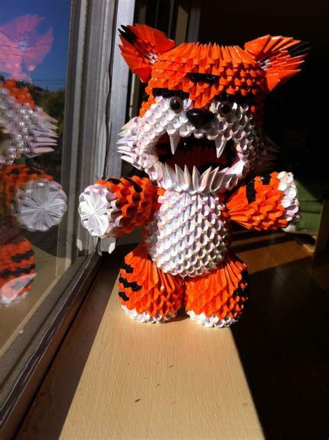 3d origami tiger tutorial 3d origami tiger roa album jaxster 3d origami art