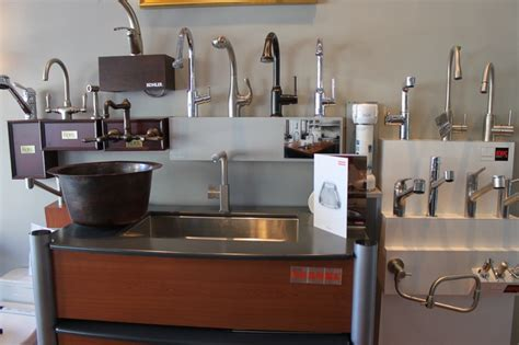 the portland showroom also has a wide variety of kitchen