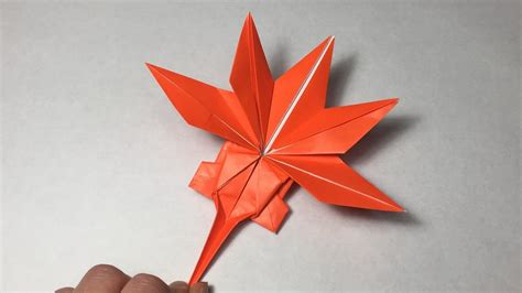 Origami Paper Canada - origami maple leaf tutolial canadian maple leaf