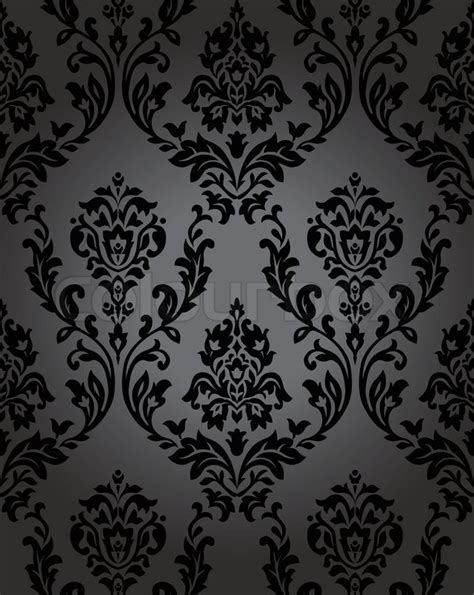 black victorian pattern stock vector of pattern gothic floral backgrounds