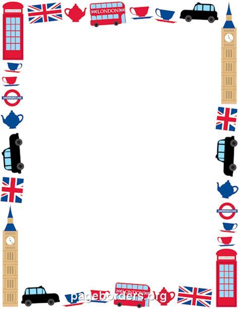 Frame Design London   printable london border use the border in microsoft word