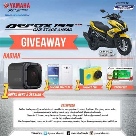 Gopro Yang Asli yamaha jatim bagi bagi gopro dalam lomba aerox give away instagram potret bikers