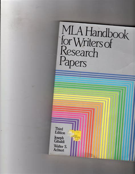 Mla Handbook For Writers Of Research Papers 7th Edition by Mla Handbook For Writers Of Research Papers 7th Edition By Joseph Gibaldi Mla Handbook For