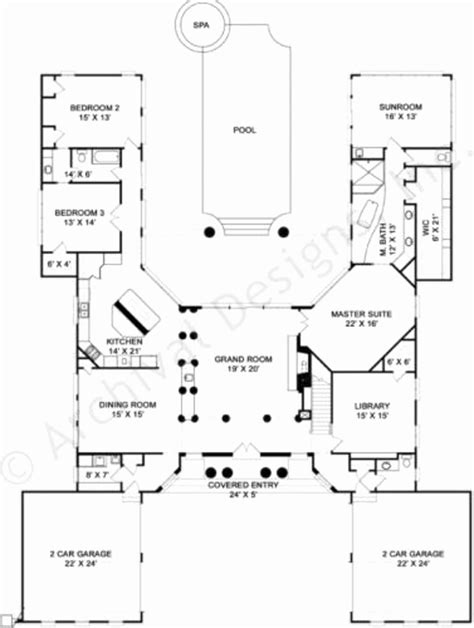 u shaped house plans with pool in middle u shaped house plans with pool in middle awesome center
