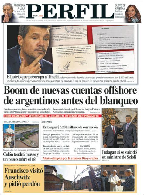 Diario Argentino Newspaper Diario Perfil Argentina Newspapers In