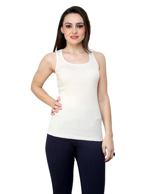 comfortable tank tops buy renka comfortable durable off white color camisole