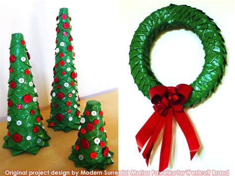 christmas pattern duct tape 12 best duct tape xmas ornaments images on pinterest
