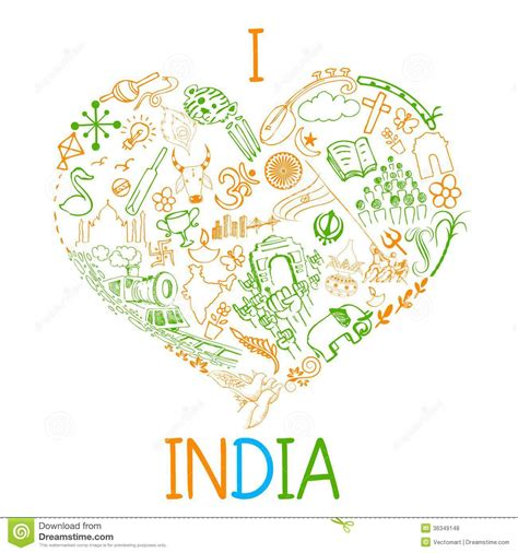 doodle 2 in india i india stock vector illustration of green