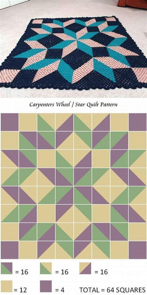 quilt pattern carpenter s wheel carpenter s wheel quilt style blanket using granny squares