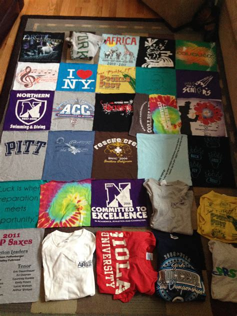 Blanket Out Of T Shirts by How To Make A T Shirt Quilt For Dummies Ready To Take