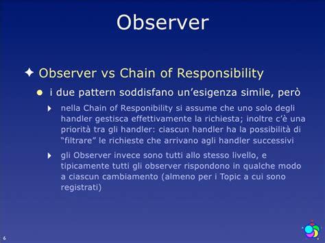 visitor pattern vs observer lezione 9 design pattern comportamentali