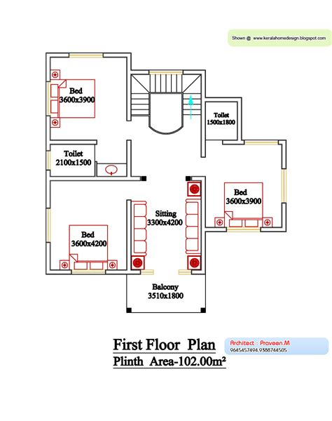 kerala home design first floor plan house plans in kerala